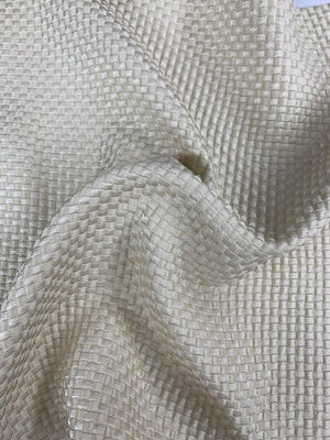 Textured Checkered Brocade - Champagne-Beige