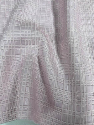 Plaid-Like Shimmery Brocade - Light Pink