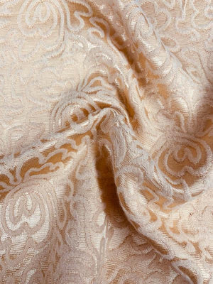 Floral Maze Chenille-Like Brocade - Dark Peach