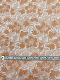 Floral Textured Brocade - Tan / Ivory