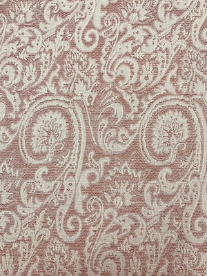 Paisley Pattern Brocade with Gold Lurex - Cream / Rose