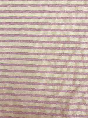 Light-Weight Horizontal Striped Brocade - Pink / Beige
