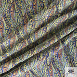 Paisley Printed Crinkled Silk Chiffon - Multicolor