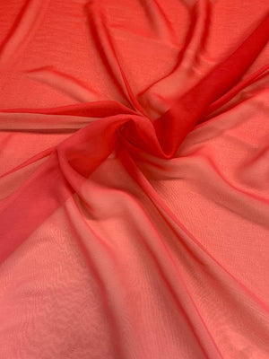 Ombre Silk Chiffon - Red / Pink
