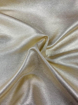 Cotton-Back Solid Lame - Glam Gold