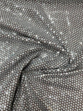 Pamella Roland Sequins on Stretch Netting - White / Silver