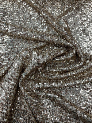 Fused-Back Small Horizontal Design Sequins - Glam Gold