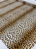 Animal Pattern Printed Heavy Silk Habotai - Dark Caramel / Black / White