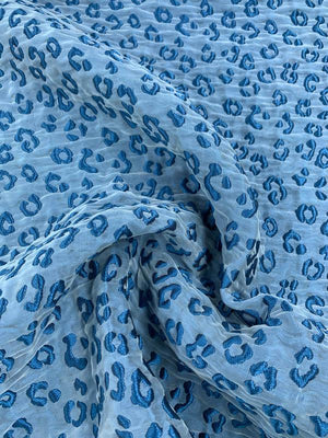 Animal Pattern Matelasse - Blue