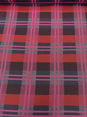 Large-Scale Modern Plaid Heavy Weight Suiting - Magenta / Red / Navy / Black