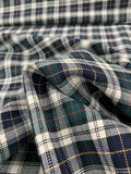Classic Plaid Cotton - Navy / Green / White / Yellow / Red