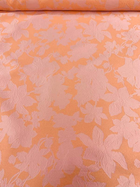 Pamella Roland Reversible Floral Brocade - Salmon / Light Pink