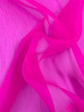 Novelty Crinkled Silk Organza - Hot Pink