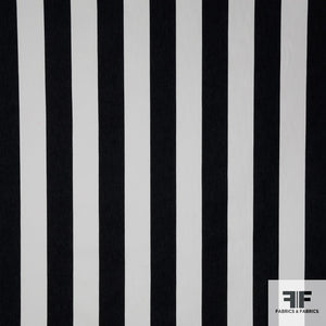 Striped Cotton Denim - Black/White