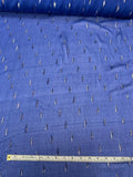 Geometric Teardrop Lurex Design Crinkled Silk Chiffon - Blue / Silver