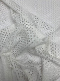 Multi-pattern Embroidered Cotton Eyelet - White