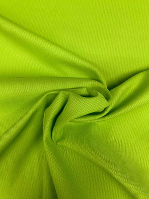 Solid Textured Cotton Pique - Lime Green