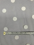 Famous NYC Designer Large Polka Dot Flocked Tulle - Black / White