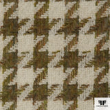 Wool Houndstooth - Green/Cream