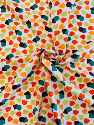 Playful Tulips Printed Stretch Cotton Poplin - Multicolor
