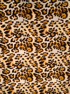 Animal Pattern Printed Cotton Poplin - Brown / Orange / Mustard / Off-White