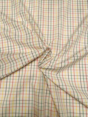 Windowpane Cotton Shirting - Multicolor
