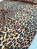 Animal Pattern Printed Silk and Wool Twill - Brown / Black / Town