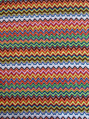 Missoni-Look Chevron Lightweight Crochet Knit - Multicolor