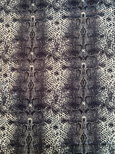 Reptile Pattern Printed Heavy Double-Face Silk Charmeuse - Black / White / Grey