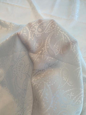 Paisley Silk Jacquard - Off-White