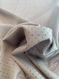 Laser Cut Dots Stretch Silk Chiffon - Dark Olive Green