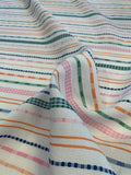 Horizontal Striped Yarn-Dyed Woven Novelty Cotton - Multicolor