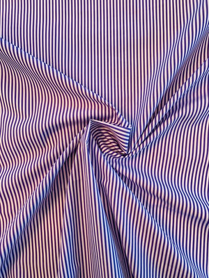 Ralph Lauren Italian Extra Fine Yarn-Dyed Cotton Shirting - Purple / White