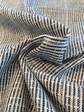 Broken Striped Yarn-Dyed Cotton Linen - Navy / White