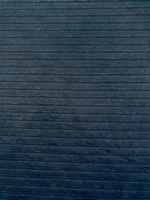 Horizontal Striped Textured Cotton Jacquard - Navy