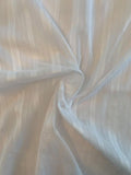 Tone-on-Tone Vertical Striped Cotton Voile - White