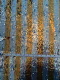 Vertical Striped Flip Sequins - Gold / Silver