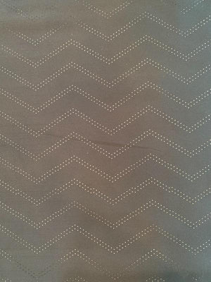Chevron Perforated Silk and Poly Zibeline - Black