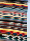 Horizontal Striped Printed Silk Twill - Multicolor