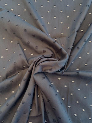 Polka Dot Fil Coupe Silk and Rayon Batiste - Black