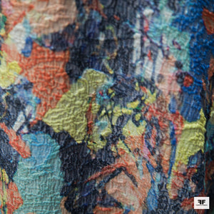 Abstract Brocade - Multicolor - Fabrics & Fabrics NY