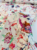 Abstract Funk Illustration Printed Stretch Silk Georgette - Multicolor