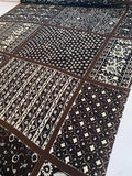 Bandana Like Multi-Pattern Printed Silk Georgette - Black / White / Brown