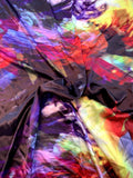 Italian Artistic Abstract Printed Silk Charmeuse - Multicolor