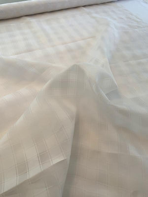 Plaid Tone-on-Tone Silk Organza - Ivory