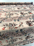 Printed on TWO SIDES Floral and Landscape Polyester Faille - Multicolor Earth