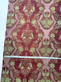 Regal Floral Silk and Rayon Organza - Burgundy / Olive / Copper