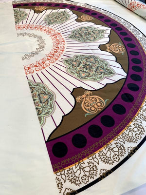 Ornate Semi-Circle Printed Cotton Poplin Panel - Multicolor