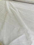 Diamond Stitched Silk Organza - Ivory