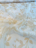 Romantic Floral Printed Silk Organza - Cream / Tan